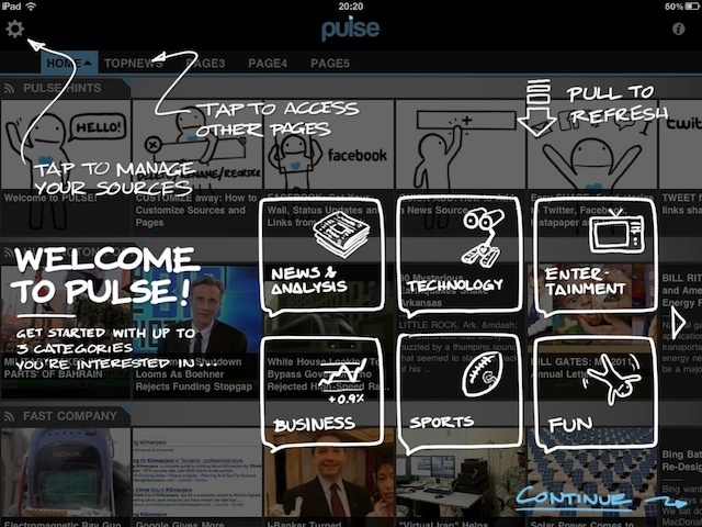 Screenshot of Pulse App tutorial page